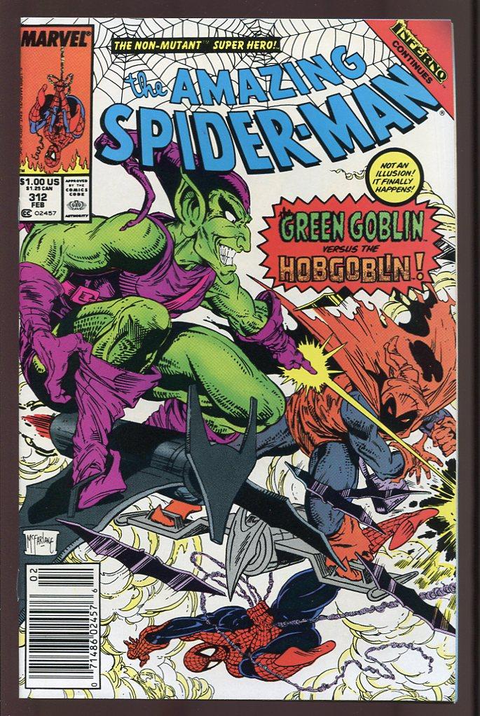 AMAZING SPIDER MAN #312 VF / NM (1963 VOL 1) GREEN GOBLIN ...