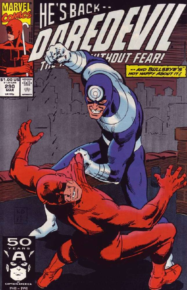 Bullseye - season 2 of Daredevil on Netflix